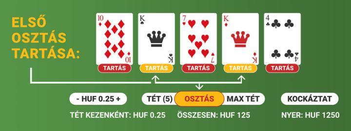 A video poker online szabályai